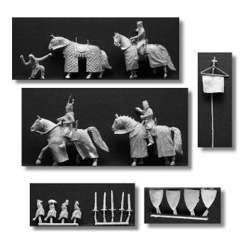 Valdemar-Miniatures: VM039 Medieval command set 1:72